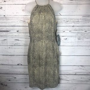 Laggy London NEW Silk Dress 6 Animal Print
